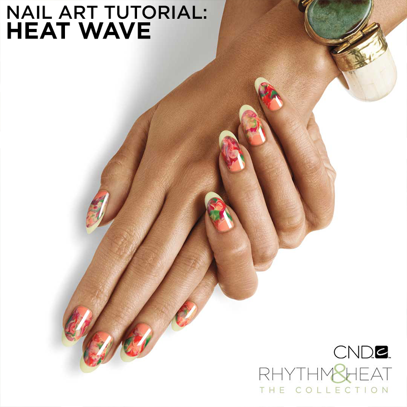 Nail Art Tutorial: Heat Wave - CND - Nailstyle