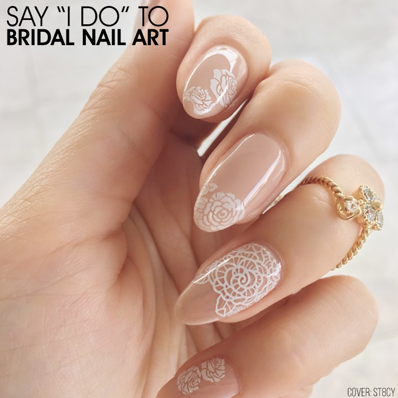 Say I Do To Bridal Nail Art Nailstyle