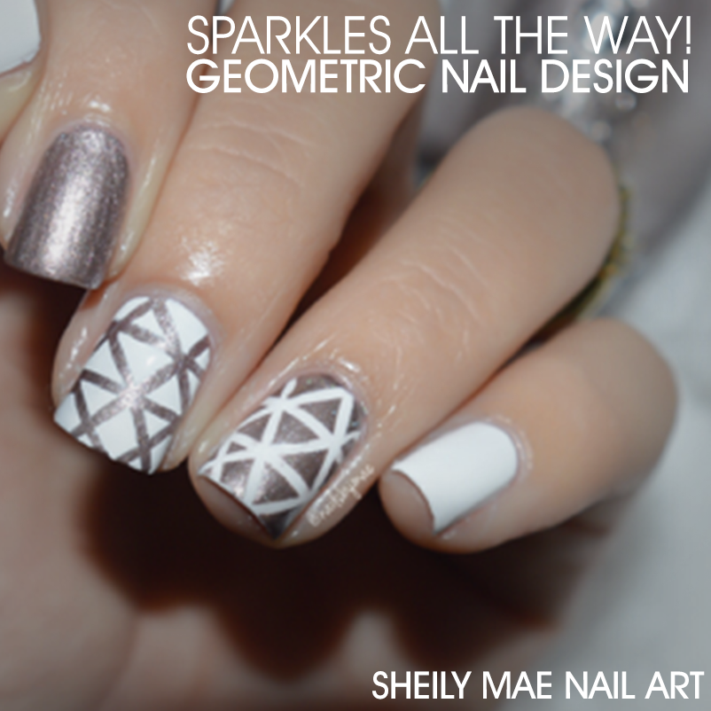 Sparkles all the Way! - Geometric Nail Design Tutorial - Nailstyle