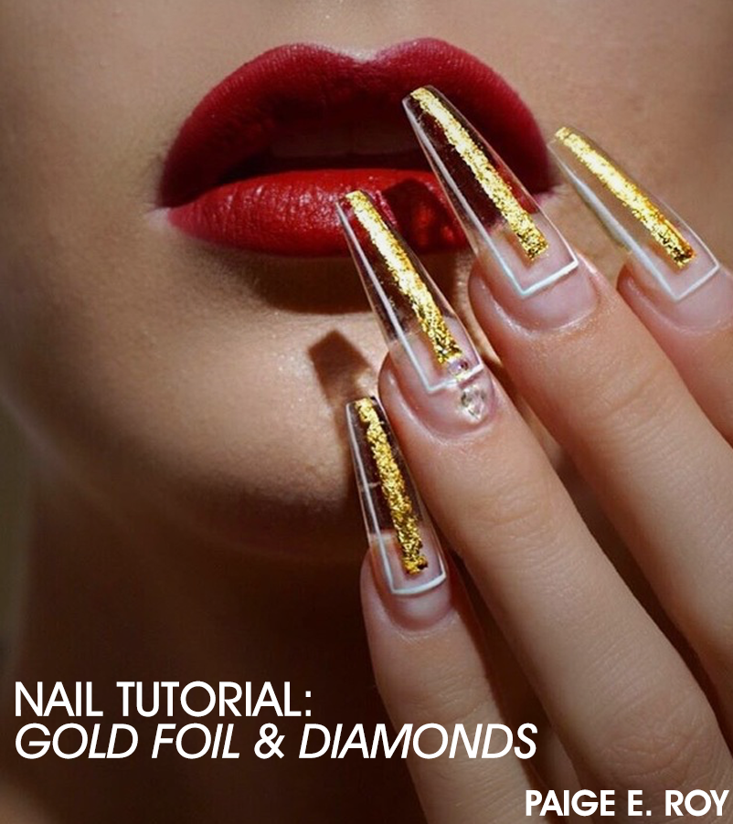 5cbe917e29531cc5c69c Gold Foil Nail Art Tutorial