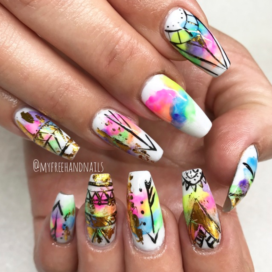 Look Hot In The Desert With Coachella Ready Nail Art Nailstyle