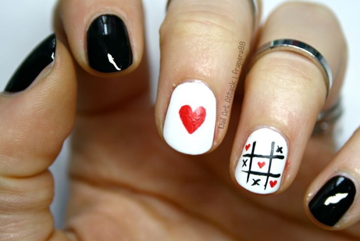 Fall Head Over Heels For Valentines Day Nail Art Nailstyle
