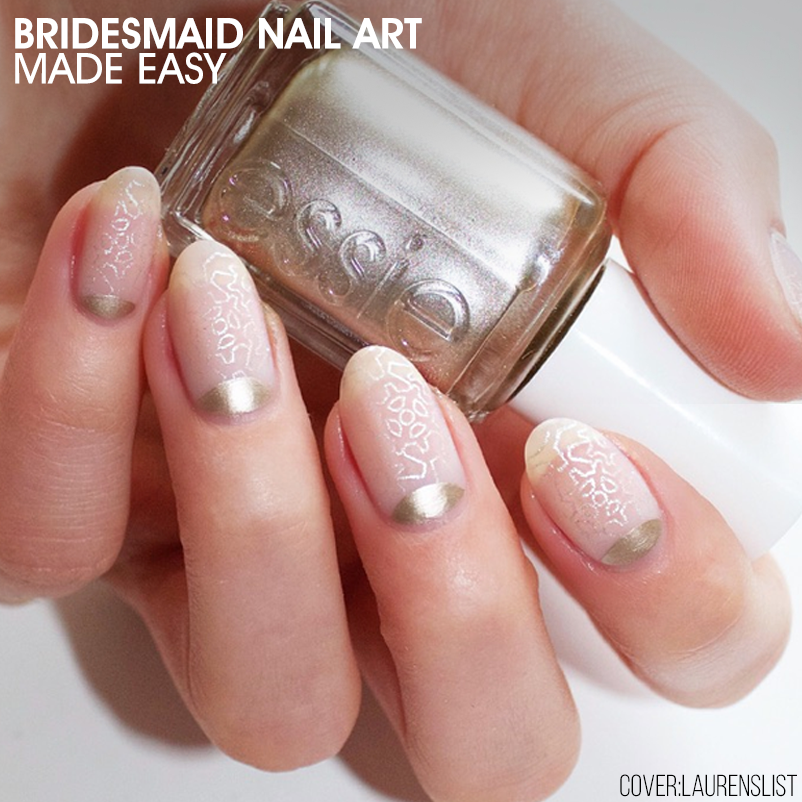 Bridesmaid Nail Art Made Easy - Nailstyle