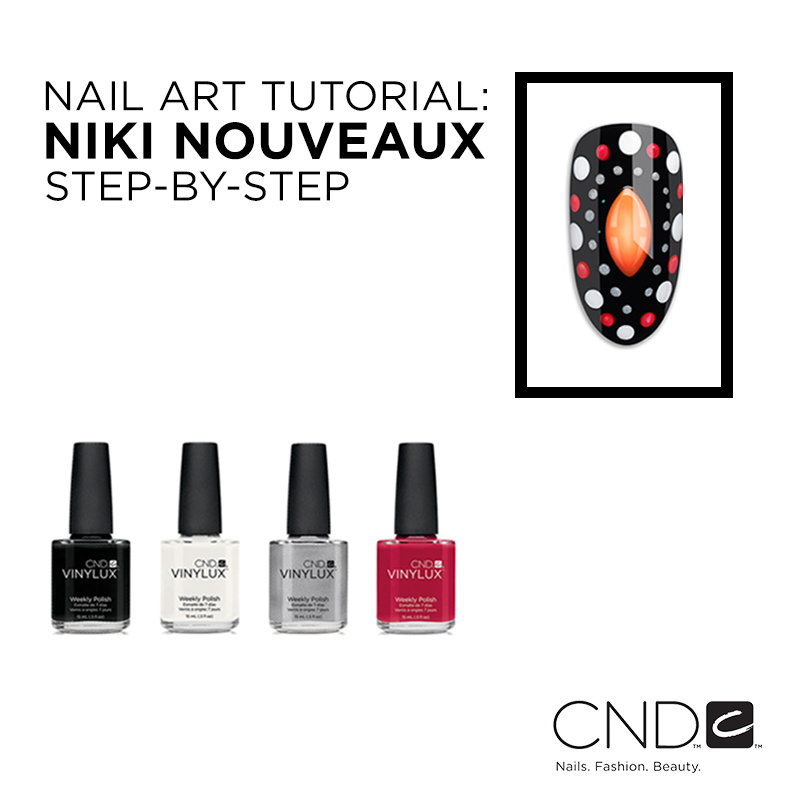 Nail Art Tutorial: Nikki Nouveaux Step-By-Step - CND - Nailstyle
