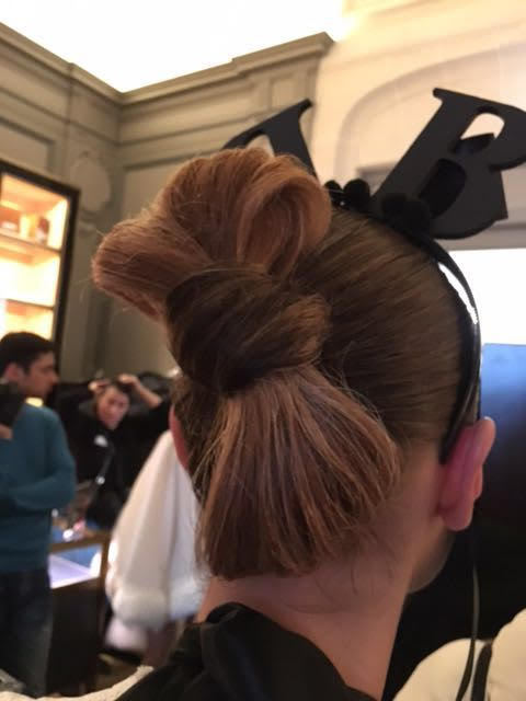 Bow Hair Style at Bowie Wong Haute Couture, Paris Fashion Week
