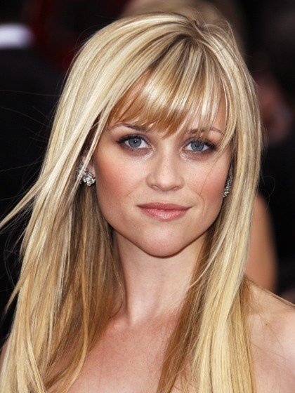 Photo of Blonde Hair, Reese Witherspoon with Bangs/Fringe