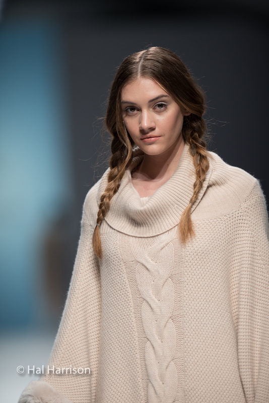 Photo of a model at a runway show