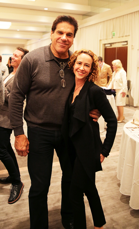 Lou Ferrigno at the Golden Globes Gifting Lounge with Ashlee Levitch