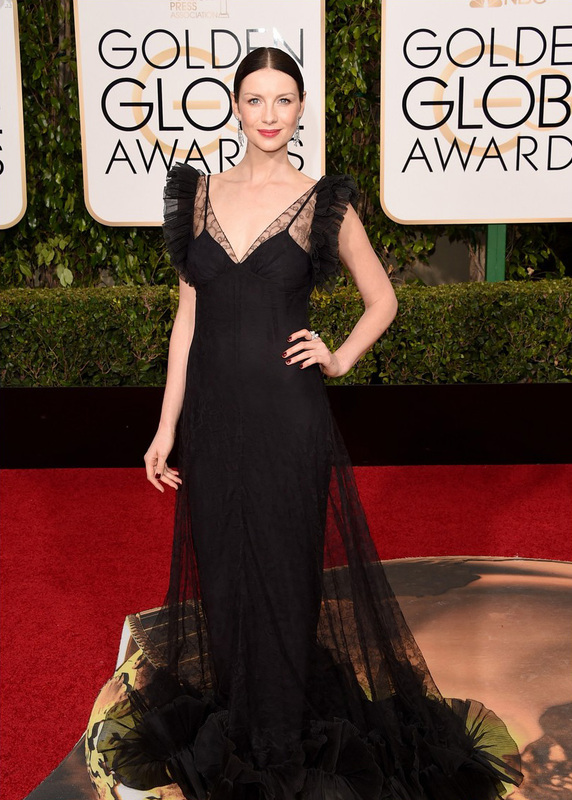 Golden Globes Hairstyles Caitriona Balfe