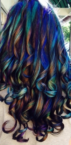 Oil Slick Hair Color Trend