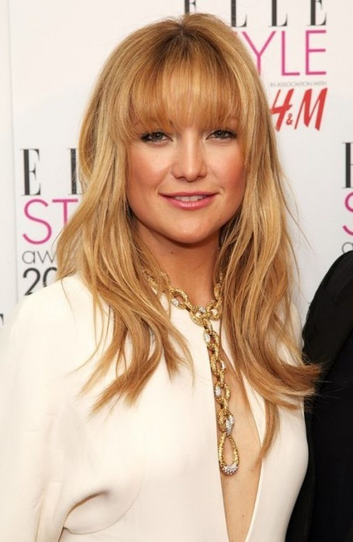 Photo of Kate Hudson with Blonde Hair and Bangs