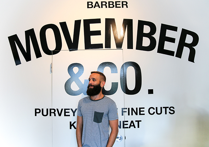 The Blind Barber at Movember Headquarters