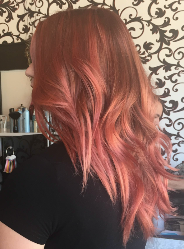Splash Pink Rose Gold Hair Color