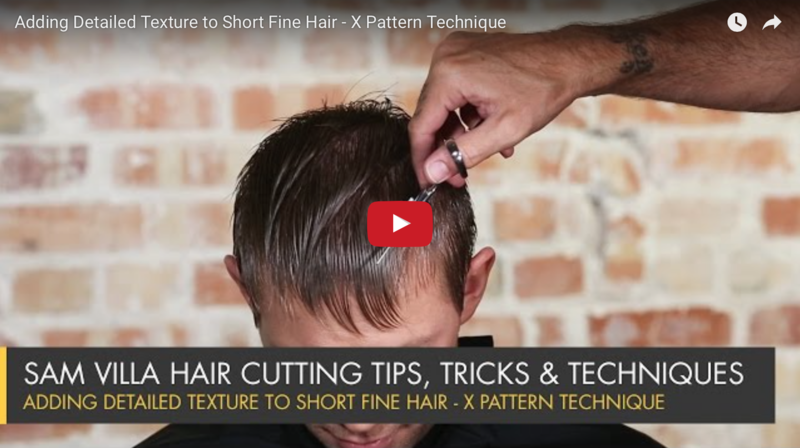 Hair styling video, step by step