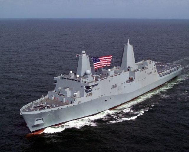 GREAT NEW PHOTOS! Here SHE is,the USS New York, made from the World Trade Center !