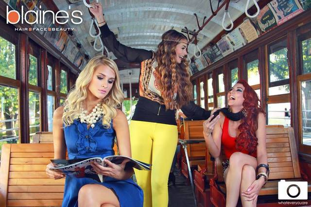 Catch a trolley to great hair at Blaine's Dallas