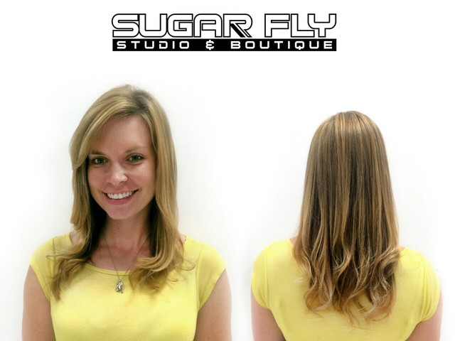 Sun-kissed highlights and cut by Kim