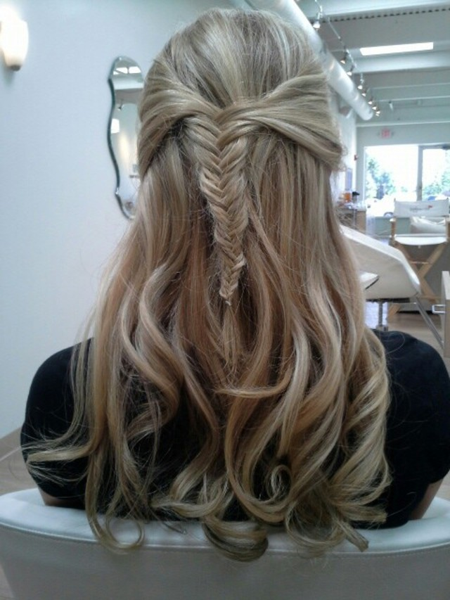 fishtail half up