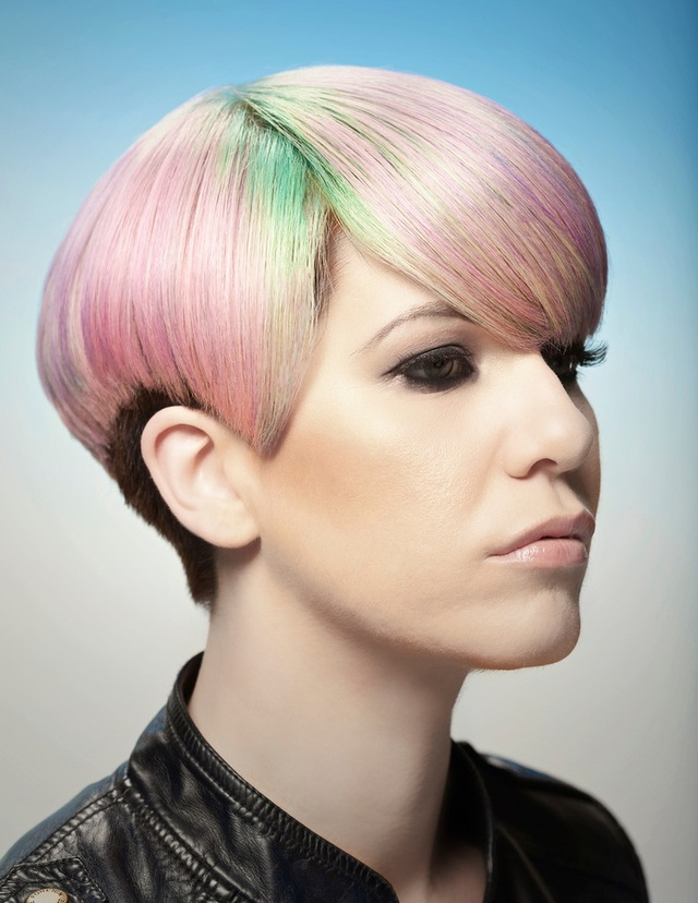 Eddie Avalos of Carlton Hair Montclair. Submission for Goldwell Color Zoom, 2013. Photo: Phillip Matthew Photography