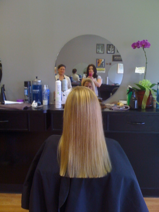 Prom up-do and Long hair cut & blow out