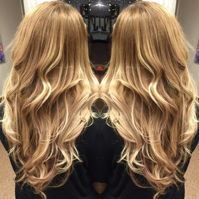 Long hair, balayage