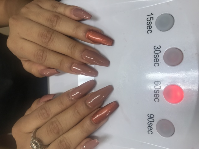 Rose gold accent