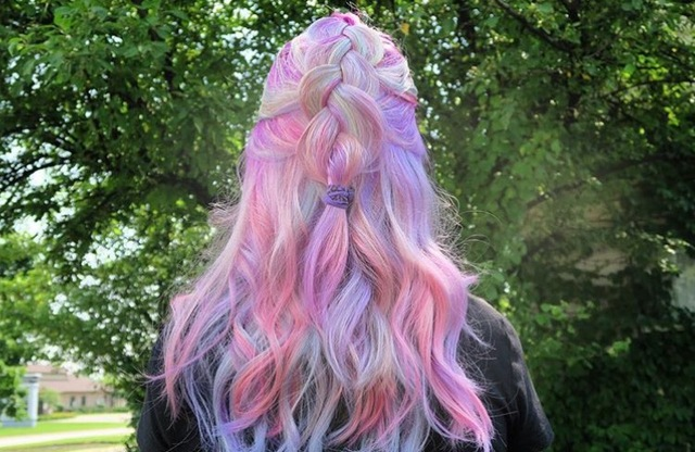 Magical unicorn hair