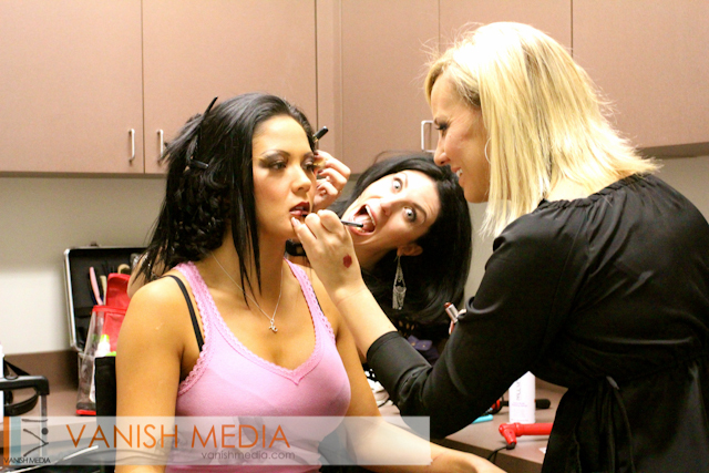 On set - behind the scenes
