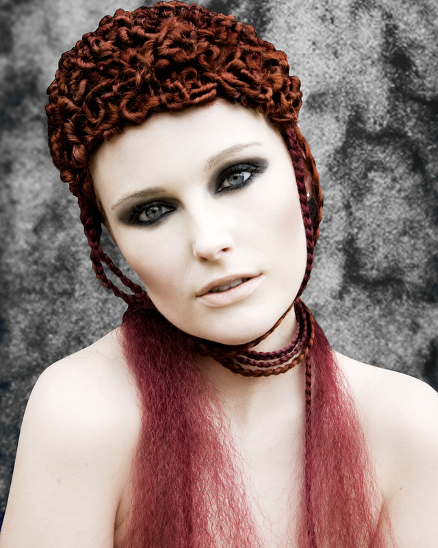 avant garde , hair michelle selby, model laura richardson, photography laura Jane vest mua Julie ann patterson