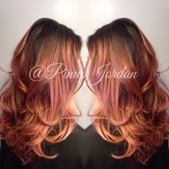 Smokey rose gold color melt!