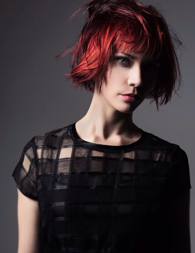 Textured Bob  Hair color and cut Katrina Beede. Photo Nick Berardi.  Model Sierra Kane