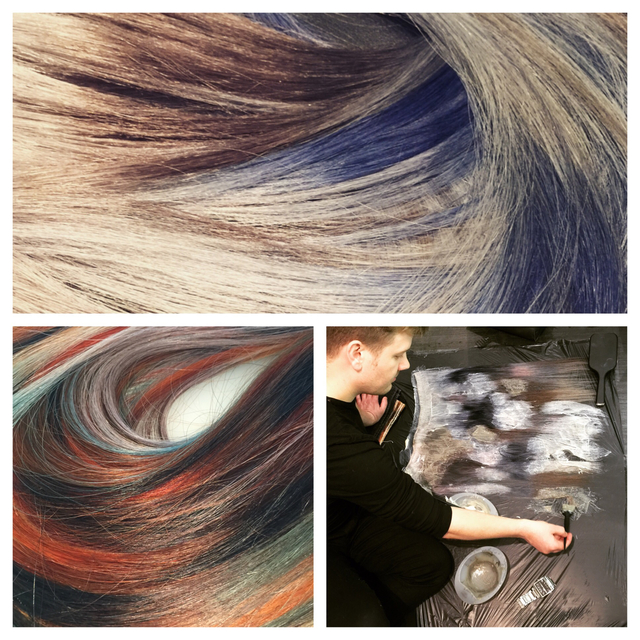 Piece work on Balmain wefts. Colour by Clayde Baumann