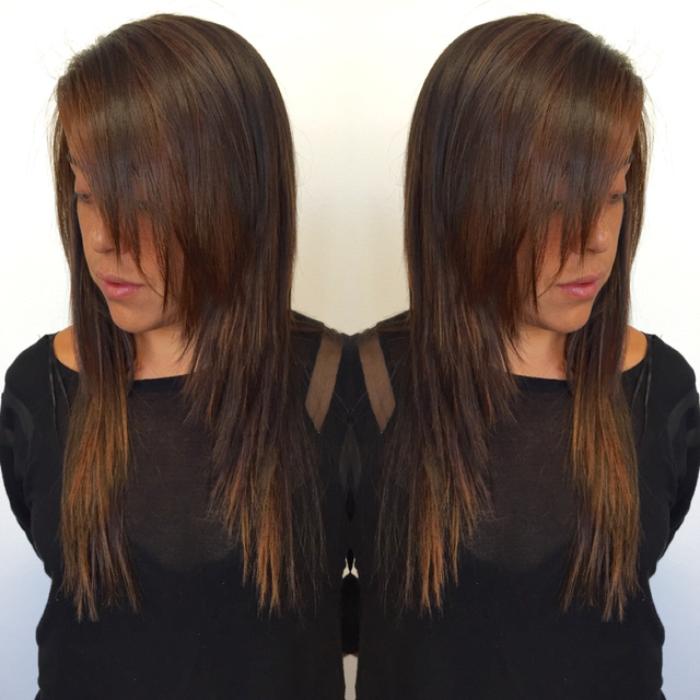 Balayage and textured cut