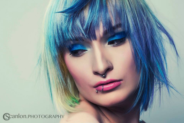 Photography-CScanlon Photography.  MUA-Gwen Reece.  Hairstylist-Johny Campbell.  Cut & colour-Chloe Hamilton.  Model-Kohtoni Alt Model