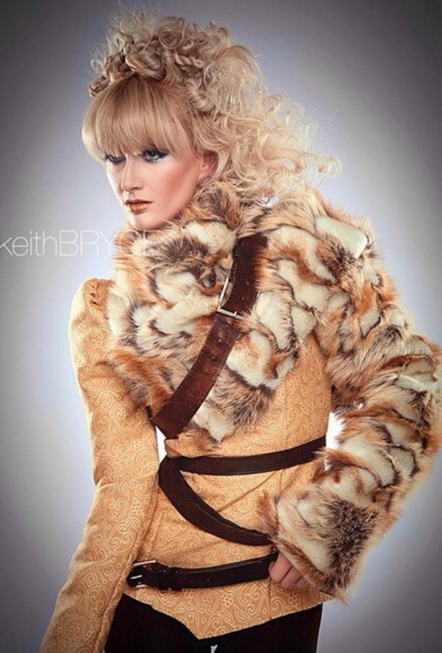 Faux Fur Hair By Amy Freudenberg Make-Up Sherri Curtis Model Jen Amber Photographer and Wardrobe Keith Bryce