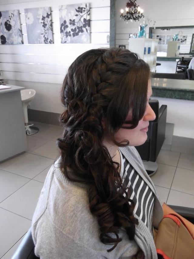 Side pony/ braid Formal