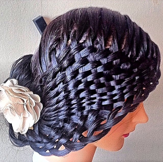 Basket braiding.