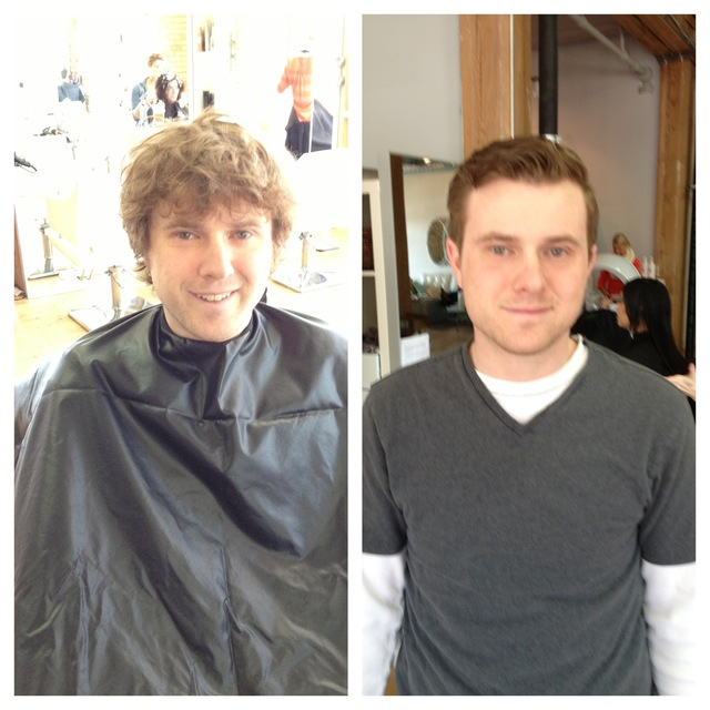 Before and After Mens Cut SUmmer 2013