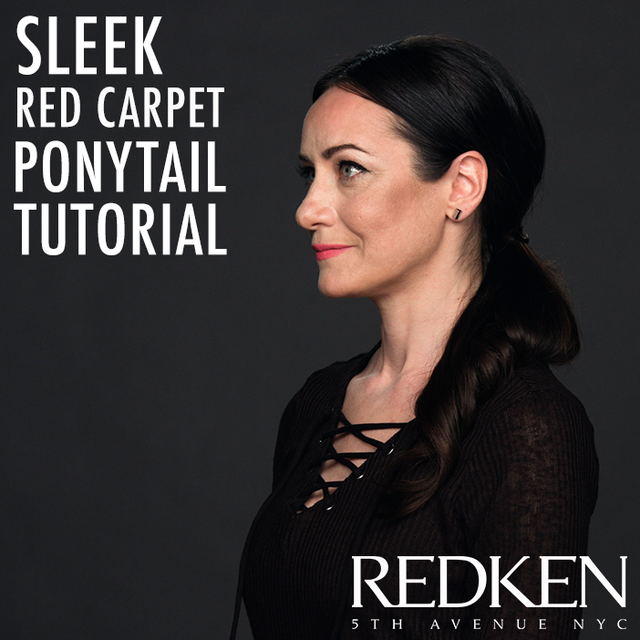 Re sized 19ae0c9e16413a3c3348 redken  video sleek red carpet look 1