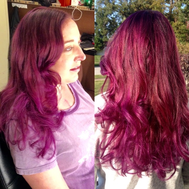 After to Violet's and purples with soft red base