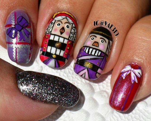 Nutcracker's handpainted with gel