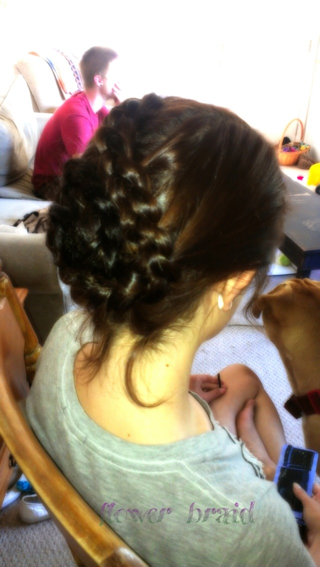 Flower Braid done by Robyn