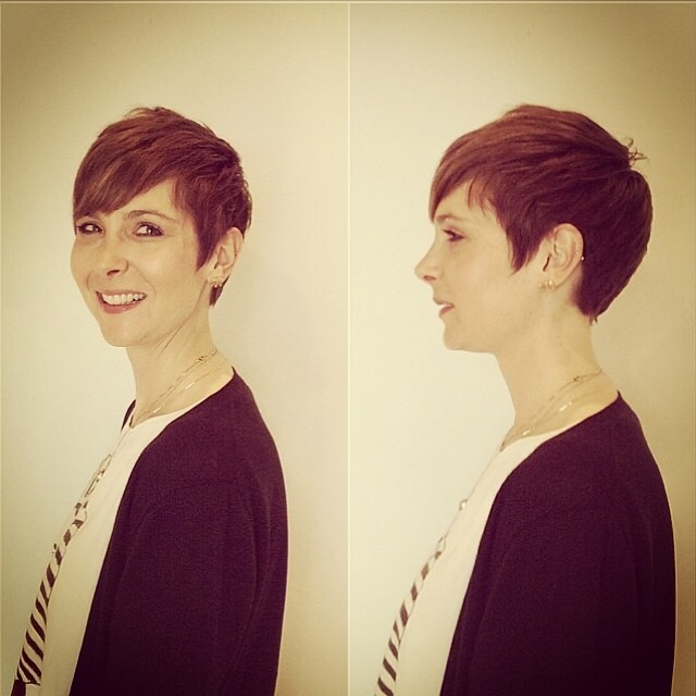 #haircut #haircolor #hair #shorthair #hairstyle #shellywilson #nomobosalon #nomobo #chicago #wickerpark #bangstyle