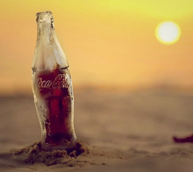 Coke Ice Bottle