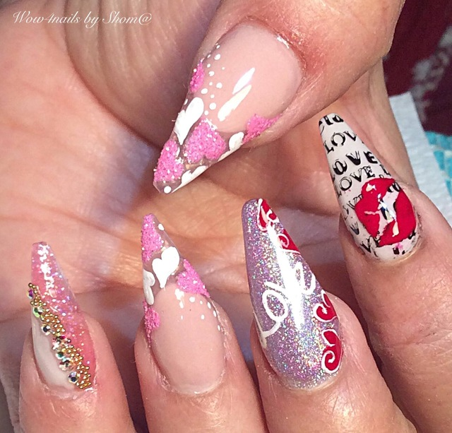 Valentine-2019 Acrylic nails