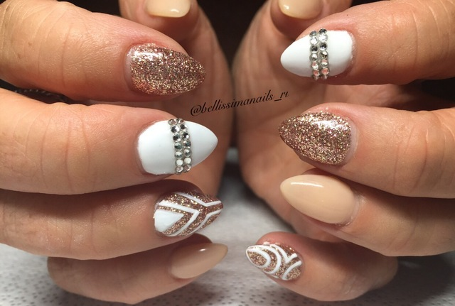 Gold and white sparkle