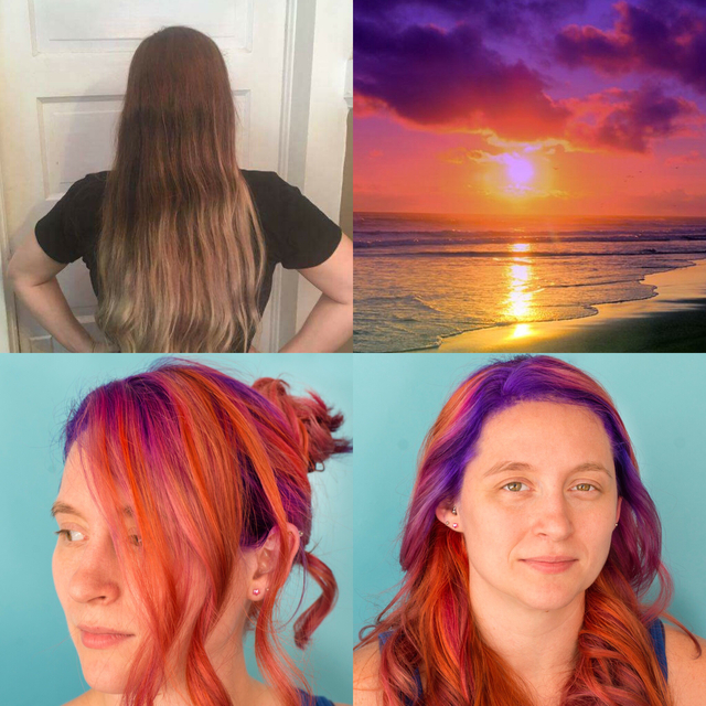 Samantha Nichols Wernet. Before, Inspiration, and After. The Florida Sunset