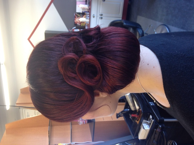 Bridal updo - red hair