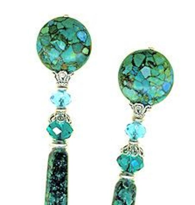 Turquoise Mosaica Special Edition LongLocks PearliStix Hair Sticks