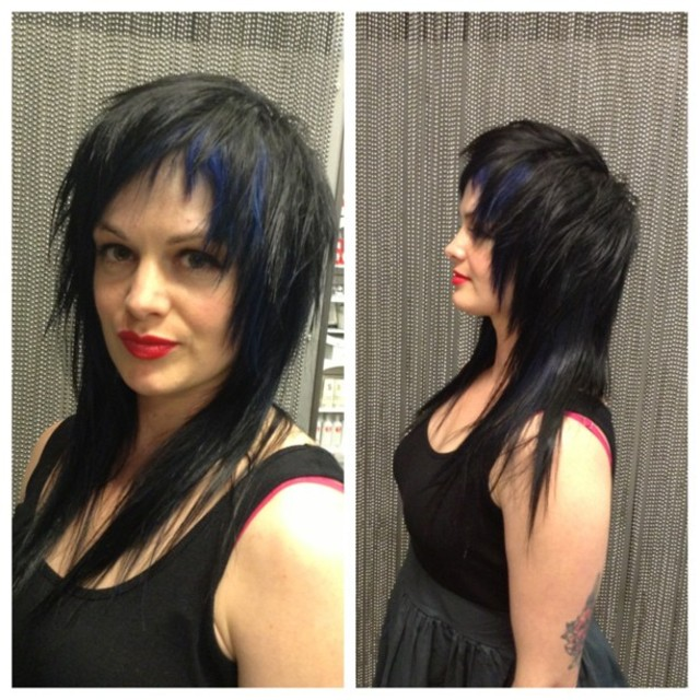Raven Blue punk hair!